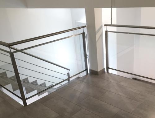 Garde-corps interieur inox/verre